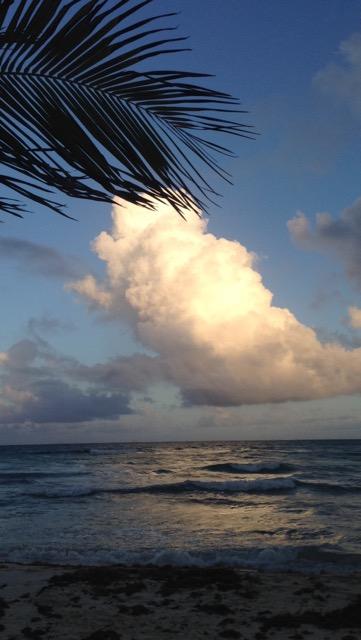 the beach at playa del carmen